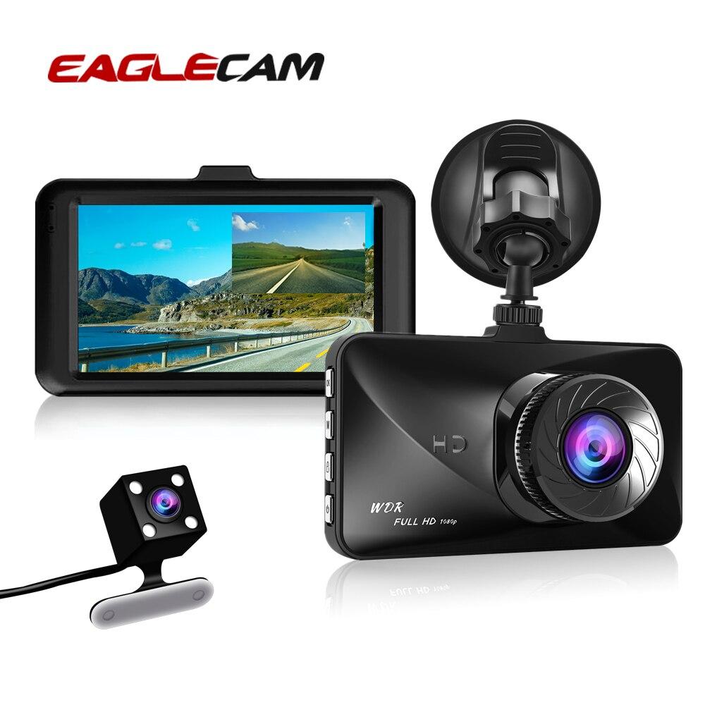 Автомобильный видеорегистратор с двумя объективами, видеорегистратор, 3 дюйма, Full HD 1080P, циклическая запись, видеорегистратор, ночное видение, g сенсор, видеорегистратор|Видеорегистраторы|   | АлиЭкспресс