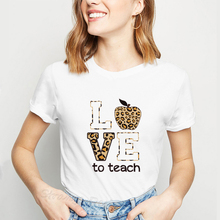 Teacher Tshirt for Women Harajuku Love Teach Fashion Female T-shirts Teacher Squad Clothes 2019 Ulzz