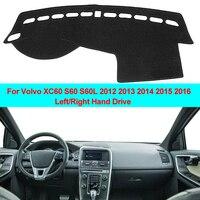 2 camadas Car Interior Painel Tampa Mat Traço Almofada Tapete Traço Board Cabo Para Volvo XC60 S60 S60L 2012 2013 2014 2015 2016|Tapete anti-sujeira p/ carros|Automóveis e motos -