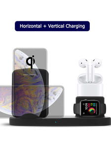 Dock-Station-Holder Fast-Charger Iwatch-Series Wireless Charging-Stand Airpods iPhone 11