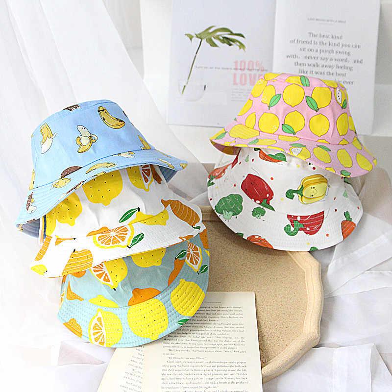 Summer Baby Girl Bucket Hat Print Outdoor Bowknot Kids Sun Hat Panama Beach Cap
