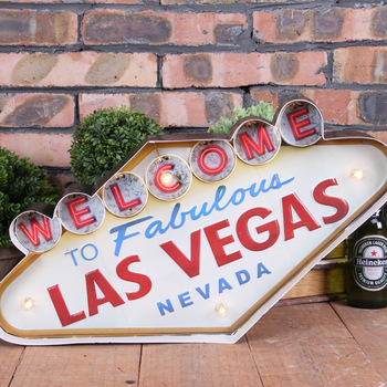 Las vegas style with lights tin painting hanging bar ornaments american-style country wall decoration hanging