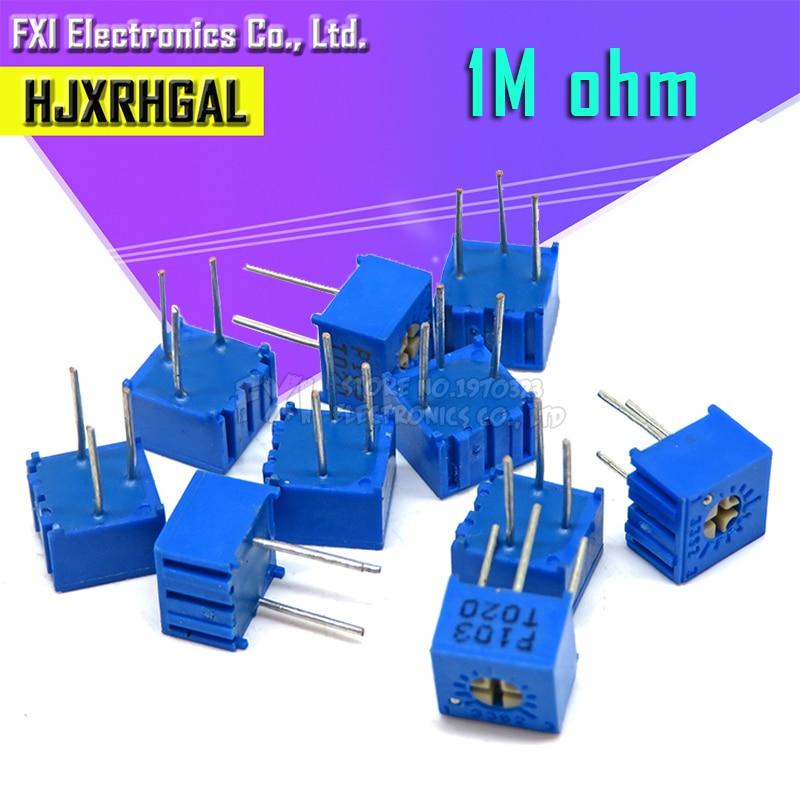 10 pièces 3362P-1-105LF 3362 P 1m ohm 3362P-1-105 3362P-105 3362 P105 105 Trimpot Potentiomètre Réglable Résistance Variable