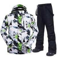 Ski Suit Men Brands Winter Windproof Waterproof Thermal Snow Jacket And Pants Sets Skiwear Skiing And Snowboard Ski Jacket Men
