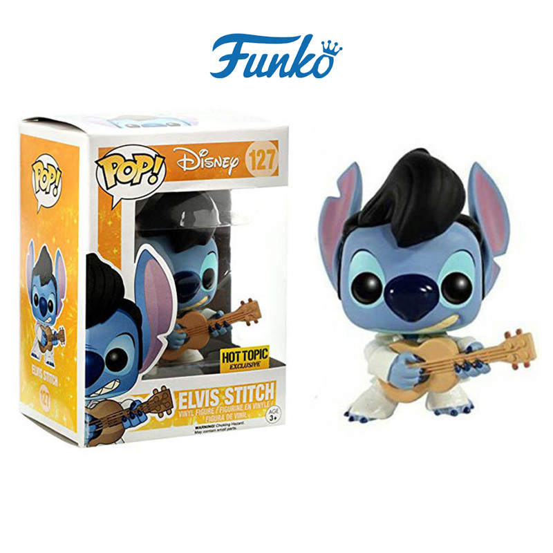 FUNKO POP Cartoon Cute Lilo Elvis Stitch PVC Figures Collection Model Toys For Christmas Gift