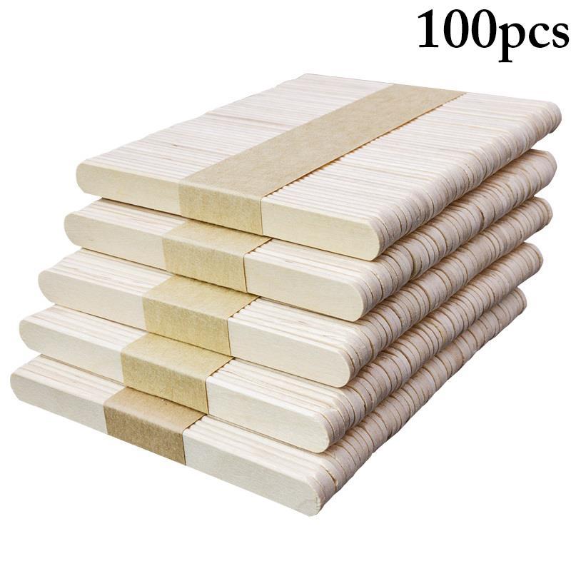 100PCS Popsicle Stick Ice Cube Maker Creme Werkzeuge Modell Spezielle-Zweck Holz Handwerk Stick Lollipop Form Zubehör