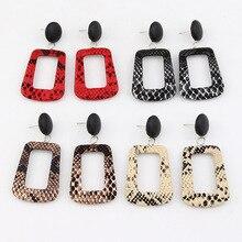 BTWGL Fashion Earrings Design Snakeskin Pendant WomenS Ornaments Bohemian Vintage Alloy Accessories