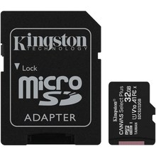 Карта памяти microSDHC UHS-I U1 KINGSTON Canvas Select Plus 32 ГБ, 100 МБ/с, Class 10, SDCS2/32GB, 1 шт., переходник SD