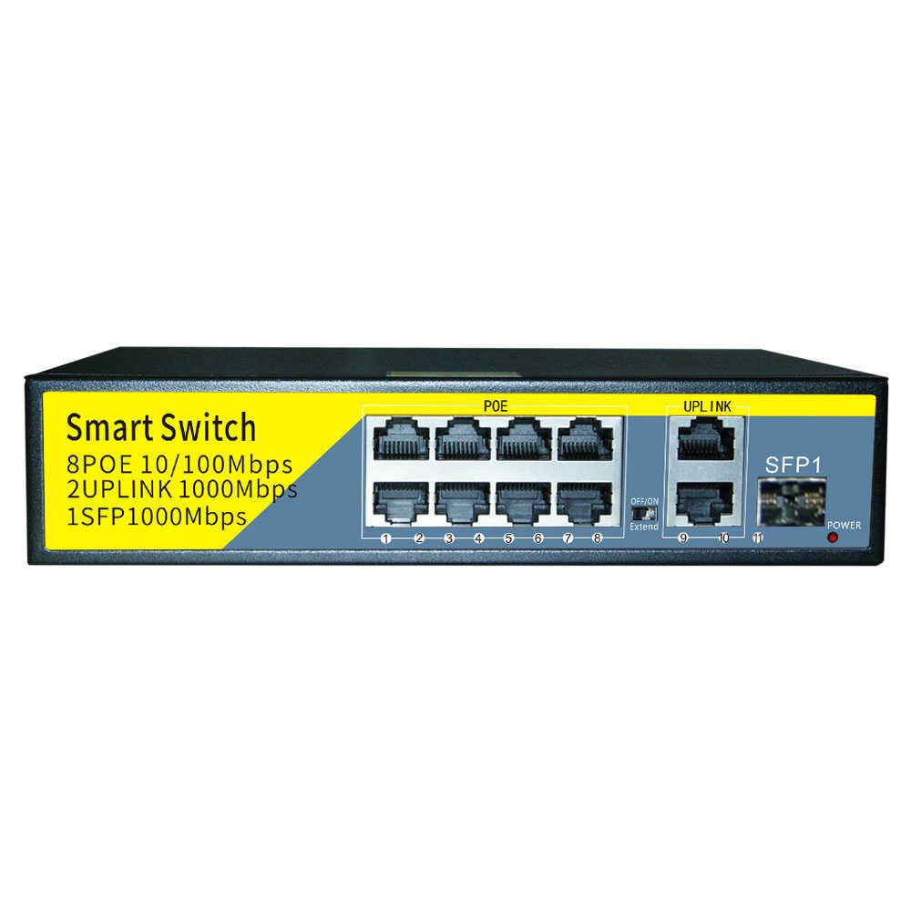 8 ports poe switch 10 100 1000m 8 3 port rack mount ethernet switch plug and play for cctv security system ip camera
