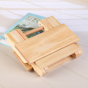 Image 4 - COSTWAY Portable Simple Wooden Folding Stool Outdoor Fishing Chair Small Stool W0169
