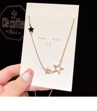 2020 Korean fashion non-standard pentagram pendant titanium steel temperament rose gold clavicle chain student jewelry