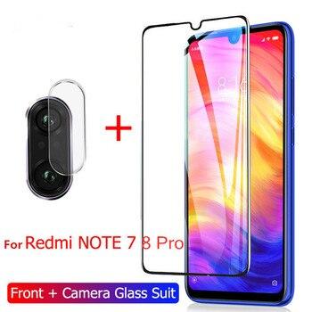 2-in-1 Tempered Glass for Redmi Note 7 9s 9pro 8 pro 7A 8A Camera Lens Film Screen protector for Xiaomi redmi note 7 8 pro glass