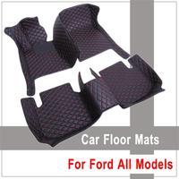 Left Hand Drive Custom Car Floor Mat For Ford Ranger Edge Kuga Fiesta Explorer F 150 Escape Mustang Focus Interior Carpets