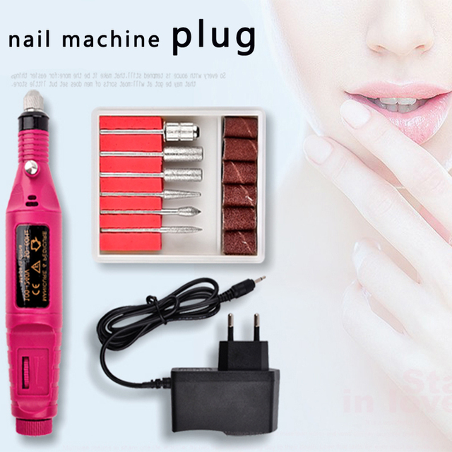 Nail Art Drill Power Adapter US EU UK AU USB Manicure Drill Machine AC/DC Converter Pedicure Rotary Tools Electric Power Cable 5