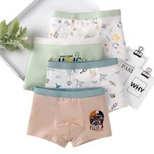 Letter Underpants Children Cartoon Boxers Cute Print Soft Dog 4pcs/Lot Music 3-16T Casual