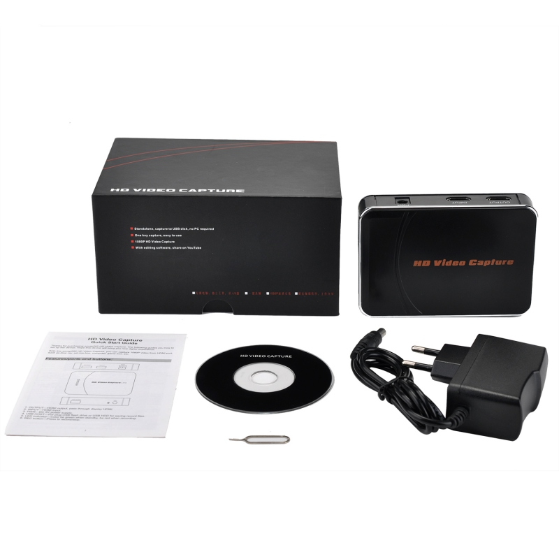 Image 3 - 1080P HDMI Video Game capture recorder support Microphone MIC for  HD camera, DVD,PC to USB Flash disk directly, HDCP, no pc needVideo