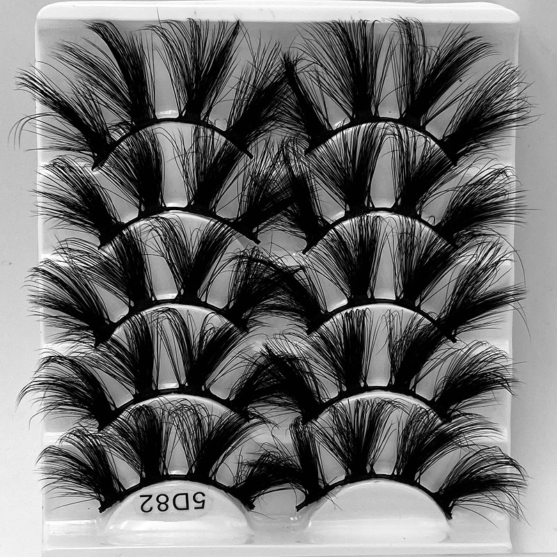 NEW 5Pair Fluffy Lashes 25mm 3d Mink Lashes Long Thick Natural False Eyelashes Lashes Vendors Makeup Mink Eyelashes