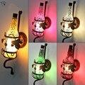 Красочный Стеклянный Винный флакон винтажный настенный светильник Ретро настенный светильник атмосфера спальня прикроватный Бар Кафе кор...