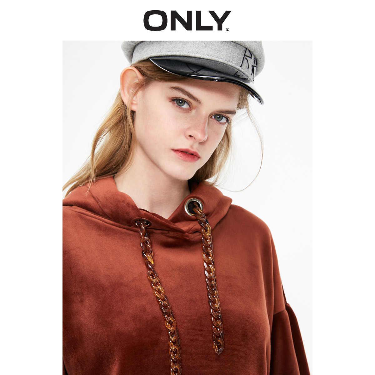 רק נשים של סתיו חדש מוצק צבע רטרו קטיפה loose סלעית עגול צוואר הסווטשרט סווטשירט | 11919S522