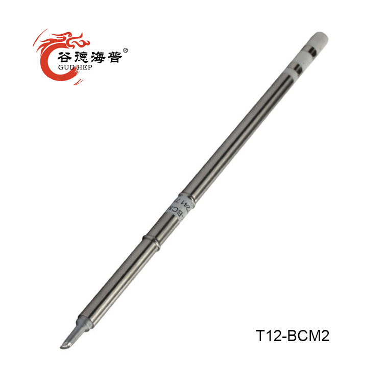 Gudhep T12-BCM2/3 Soldering Iron Tip Bevel With Indent/horseshoe-shaped BCM2/3 Tip With Groove/shape 2/3BCM