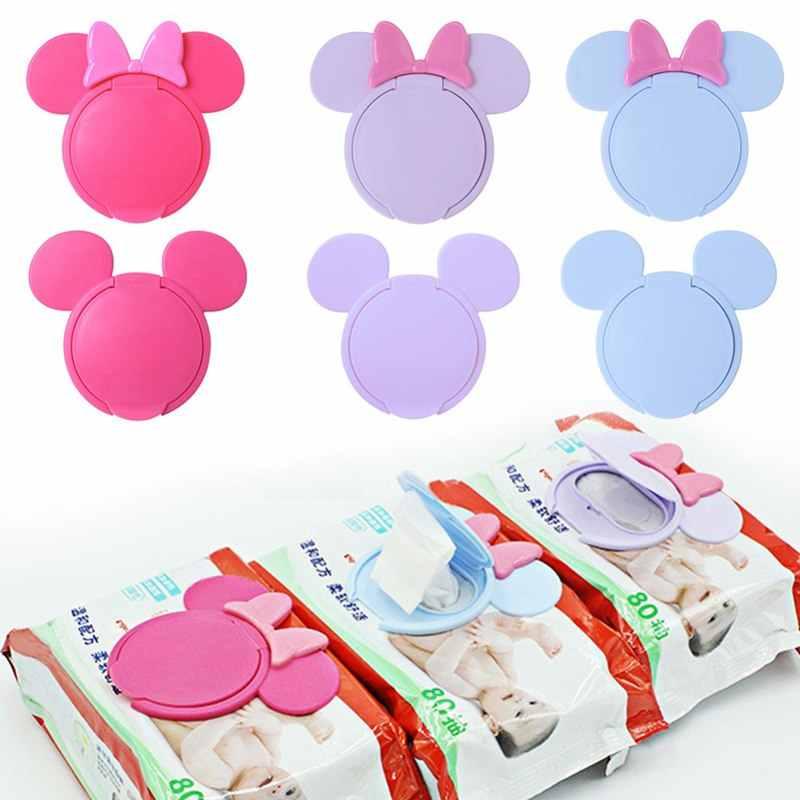 Nowy chusteczki dla niemowląt pokrywa wilgotne chusteczki dla niemowląt pokrywa przenośny dziecko chusteczki nawilżane pokrywką Cartoon komórkowy chusteczki mokre papierowa pokrywka przydatne akcesoria