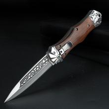 Składany nóż kieszonkowy przenośny krótki nóż składane noże samoobrony nóż obozowy Survival polowe noże myśliwskie z klipsem tanie tanio XUAN FENG Metalworking CN (pochodzenie) WOOD STEEL