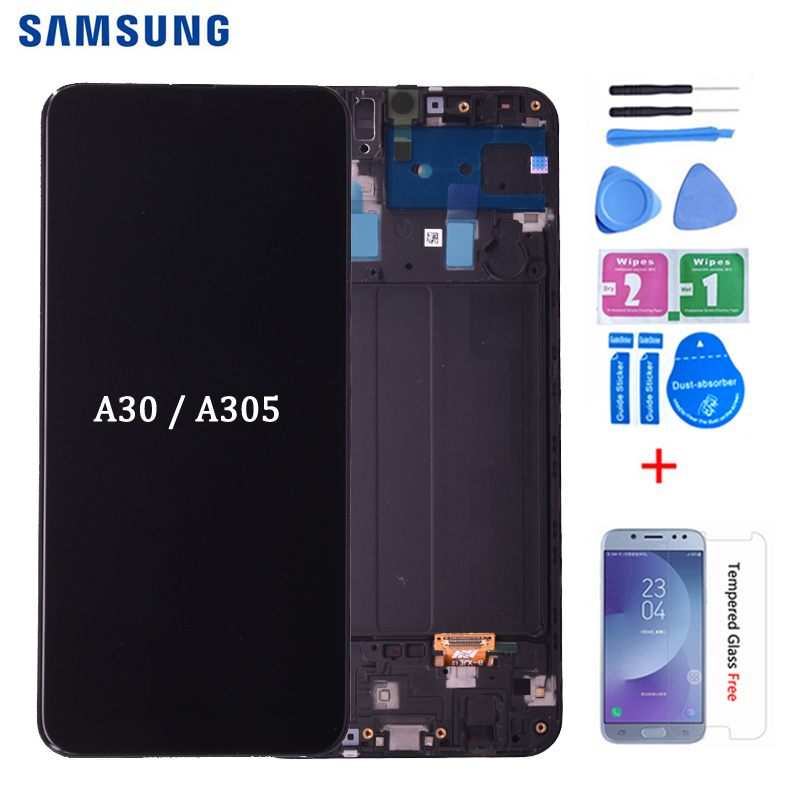 For <font><b>SAMSUNG</b></font> <font><b>GALAXY</b></font> <font><b>A30</b></font> <font><b>LCD</b></font> Display A305DS A305FN A305G A305GN A305YN with Touch Screen Digitizer Assembly free shipping image