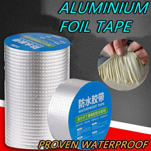 Super resistência a alta temperatura da folha de alumínio adesivo butílica fita reparação crack impermeável fita adesiva para ferramentas de renovação em casa