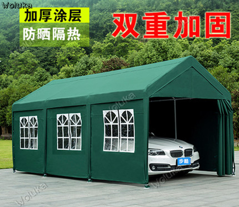 Car Parking Shed Thickened On All Sides Garage Home Awning Awning Mobile Car Tent Big Umbrella Outdoor Shed Cd50 Q03 Awnings Shelters Aliexpress