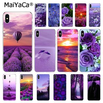 MaiYaCa infinity on Purple Flower lavender Phone case For iphone 11 Pro 11Pro MAX 6S 6plus 7 7plus 8 8Plus X Xs MAX 5 5S XR 10 image