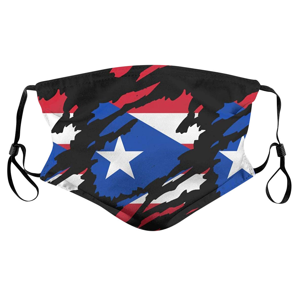 Universal Dustproof Face Mask For Adults America Flag Print Reusable Mouth Mask Fashion Mouth Face Masks Respirator Washable