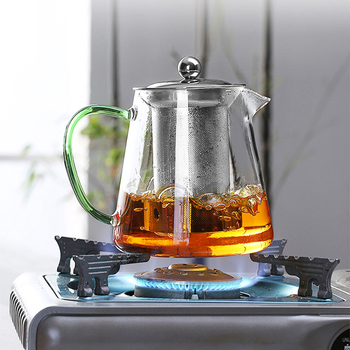 Colorful Heat-resistant glass Teapot 550ml With filter,tea pot Can be heated directly on fire Strainer Heat Coffee Pot Kettle