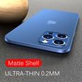 0.2MM Ultra Thin luxury iPhone case, matte PP Case, iPhone 11 12 Pro Max 12mini x XR XS Max se 2020 6 6S 7 8 plus