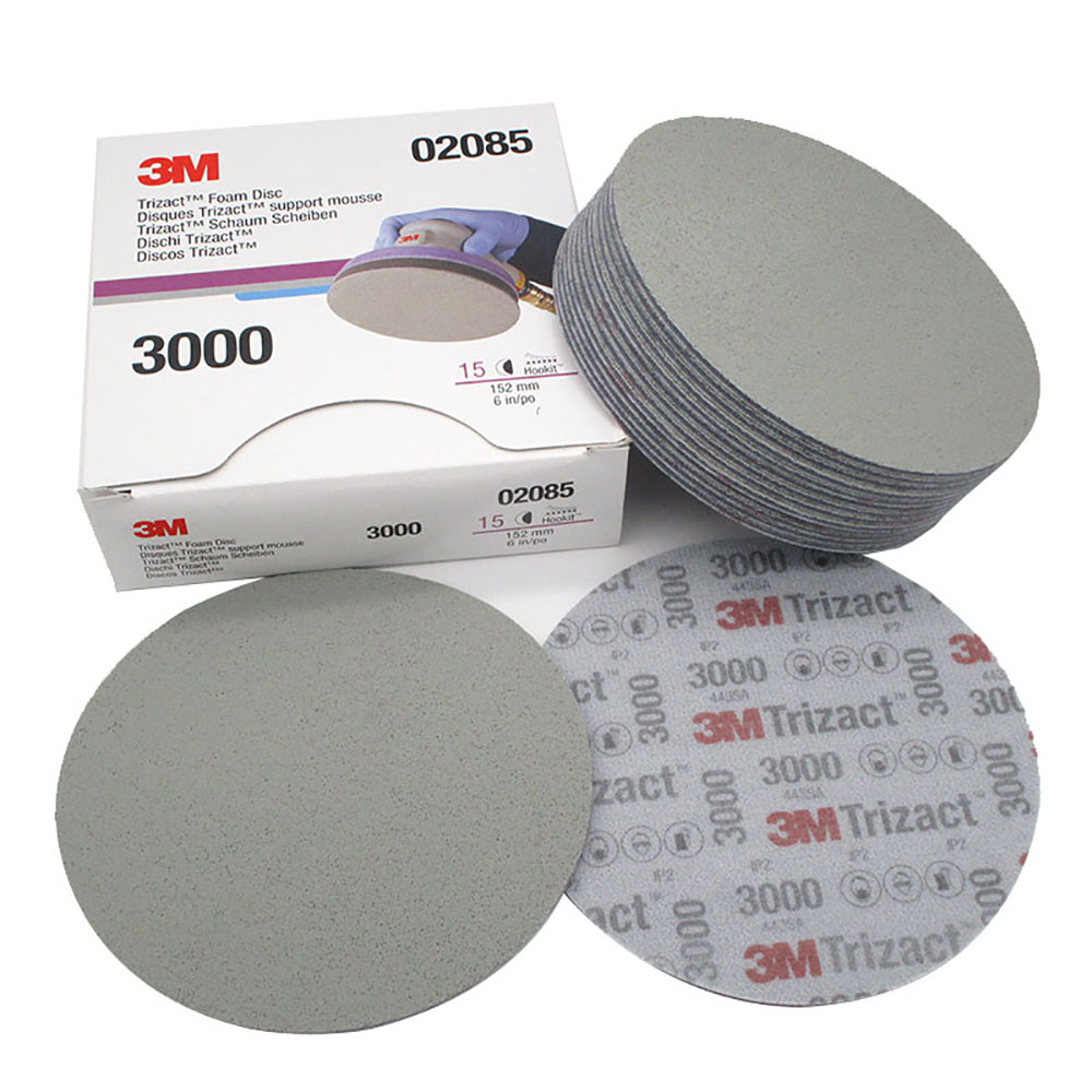 3M Trizact 02085 30662 Pyramid Back Velvet Disc Sandpaper 3000-5000 Grit 6 Inch 152mm Precision Grinding Paint Surface Polishing