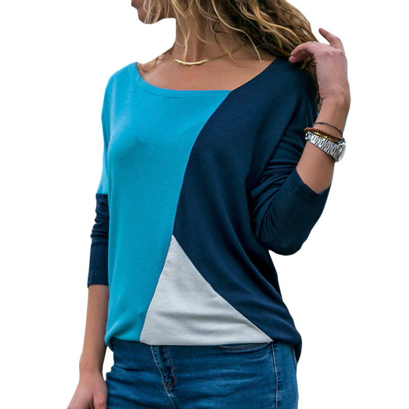 Autumn Long Sleeve Blouse Women 2020 Casual Skew Collar Patchwork Shirt Slim Office Lady Blouses Basic Tops Tee Blusas S-2XL