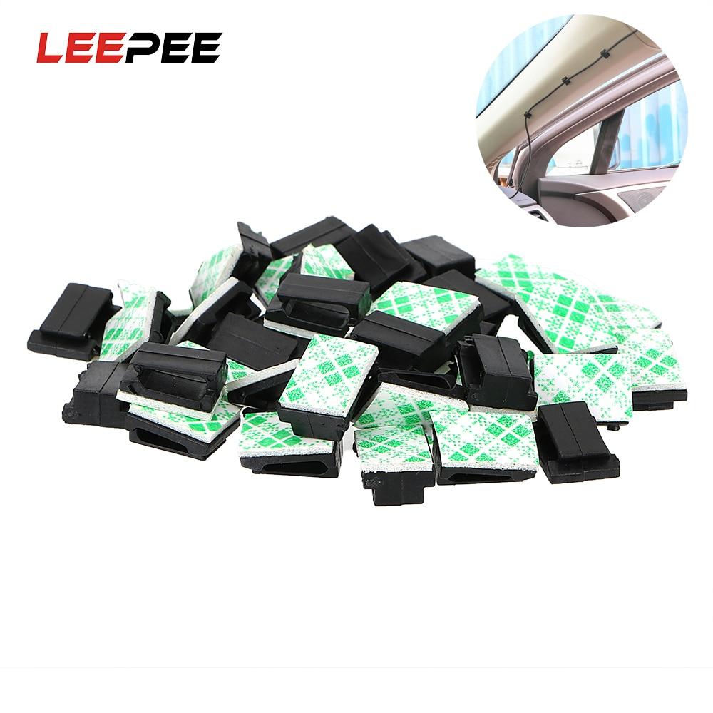 LEEPEE 40 шт./компл. фиксирующие зажимы для автомобильного шнура передачи данных и кабеля, аксессуары для интерьера