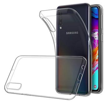 Funda de gel TPU carcasa silicona para movil Samsung Galaxy A70 Transparente