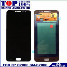Für Samsung Galaxy C7 C7000 SM-C7000 AMOLED Handys LCDS Display Touchscreen Voll Digitizer Montage LCD Sensor Ersatz(China)