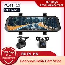 2020 novo 9.35 Polegada tela cheia 70mai retrovisor traço cam wide 1080p câmera automática 130fov 70mai espelho do carro gravador de transmissão mídia carro dvr