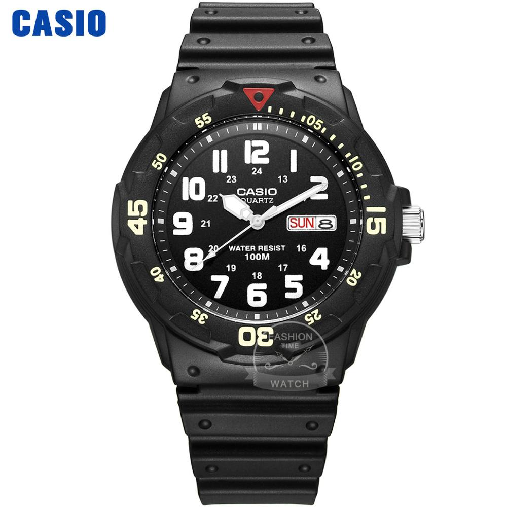 <font><b>Casio</b></font> Taucheruhr Herren Set Top Luxusmarke wasserdichte Armbanduhr Sport Quarz Herrenuhr Militäruhr relogio masculino reloj hombre erkek kol saati montre homme zegarek meski MRW-200 image
