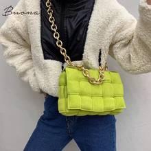 Novo designer tecido macio quadrado crossbody sacos feminino chique bolsa de alta qualidade grosso metal corrente fosco camurça bolsa ombro