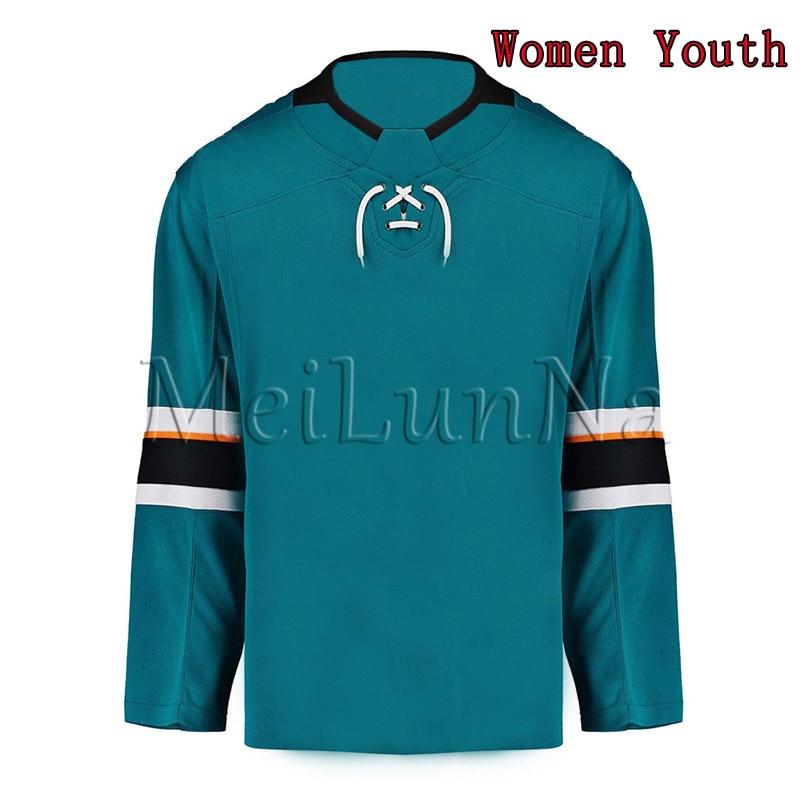Erik Karlsson Brent Burns Logan Couture Joe Thornton Evander Kane Women Youth San Jose Teal White Hockey Jerseys