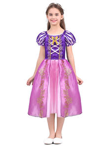 Girls Princess Rapunzel Dress Up Dresses Baby Summer Cosplay Party Costumes Little Child