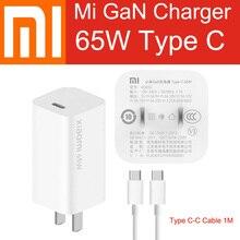 Оригинальное зарядное устройство Xiaomi Mi GaN 65 Вт AD65G Type C адаптер питания для ноутбука Mi10 Pro Mi Macbook Air MateBook iPhone 11 Pro
