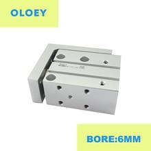 MXH6-10 Bore:6MM compact slide guide rod cylinder Stroke precision MXH6-5 MXH6-15 MXH6-25 MXH6-30 цена в Москве и Питере