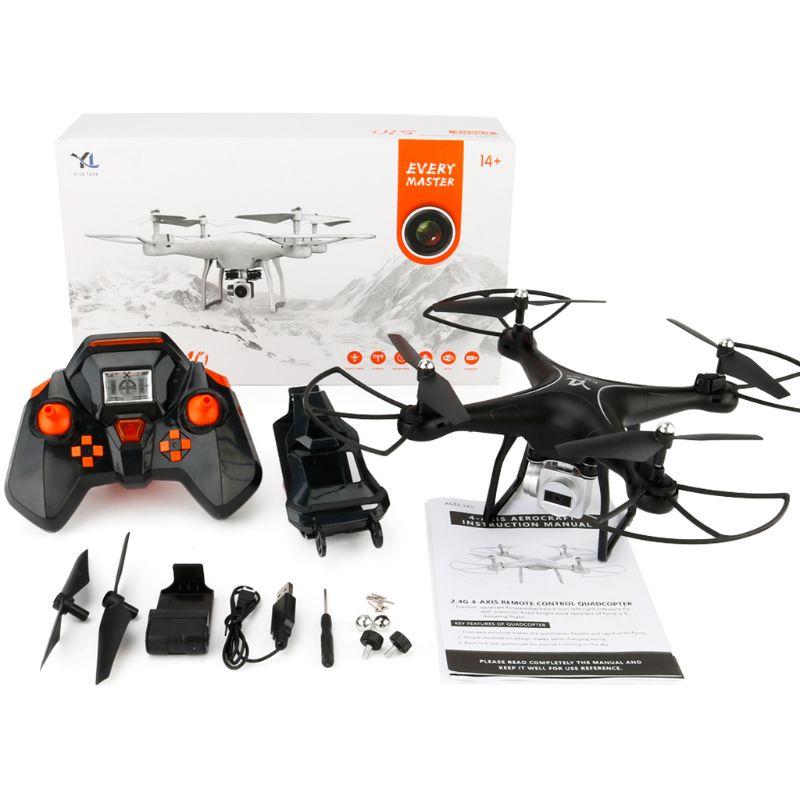 Drone RC caméra HD quadrirotor WiFi FPV 2.4G Mode sans tête vol aérien télécommande jouets enfants enfants cadeau