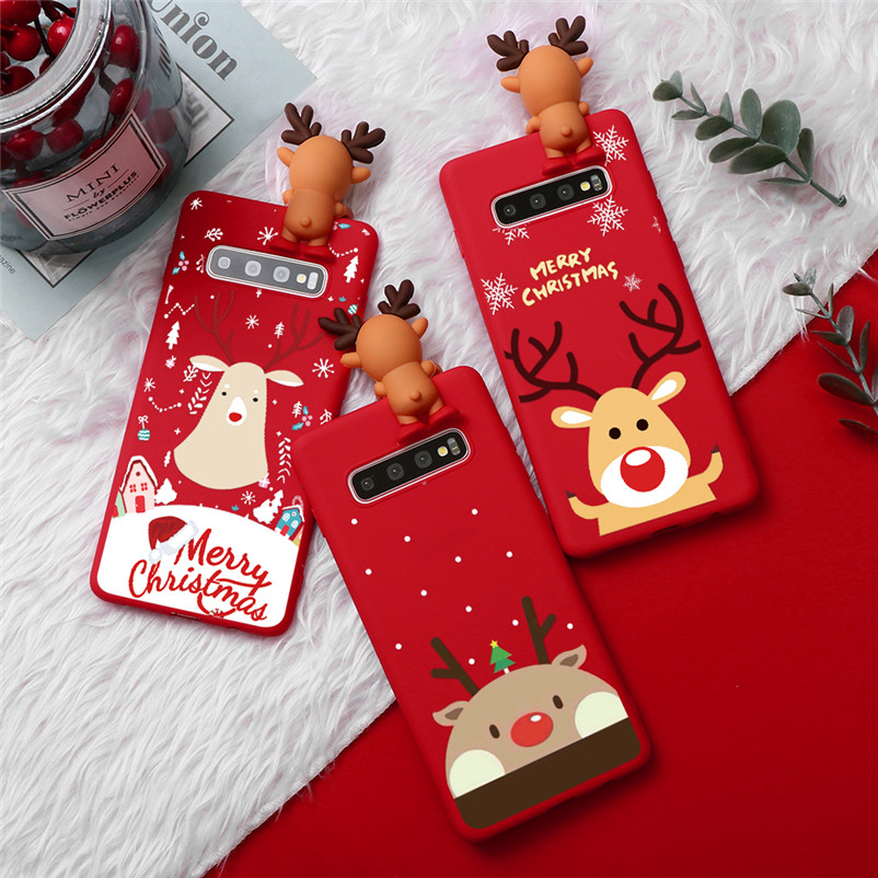 Cartoon Christmas <font><b>Case</b></font> For <font><b>Samsung</b></font> Galaxy S8 S9 S10 Plus S6 S7 Edge S10E <font><b>A10</b></font> A20 A30 A40 A50 A50S A60 A70 M10 M20 Silicone Cover image