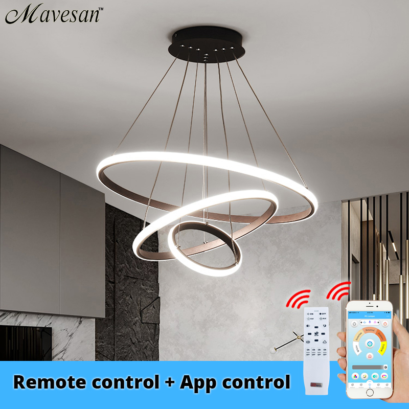Modern LED Pendant Lights For Kitchen Dining Room Lustre Pendente Hanging Ceiling Lamp Deco Maison Halat Avize AC90-260v