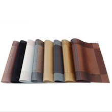 Stain-Resistant Non-Slip Coaster Pad Rectangle Europe PVC Dining Table Placemat Heat Resistant Coaster Fashion Western Food Mat non slip bar rubber mat pvc pad coaster kitchen placemat bar rectangle mat cup mug set beer whiskey waterproof bar accessories