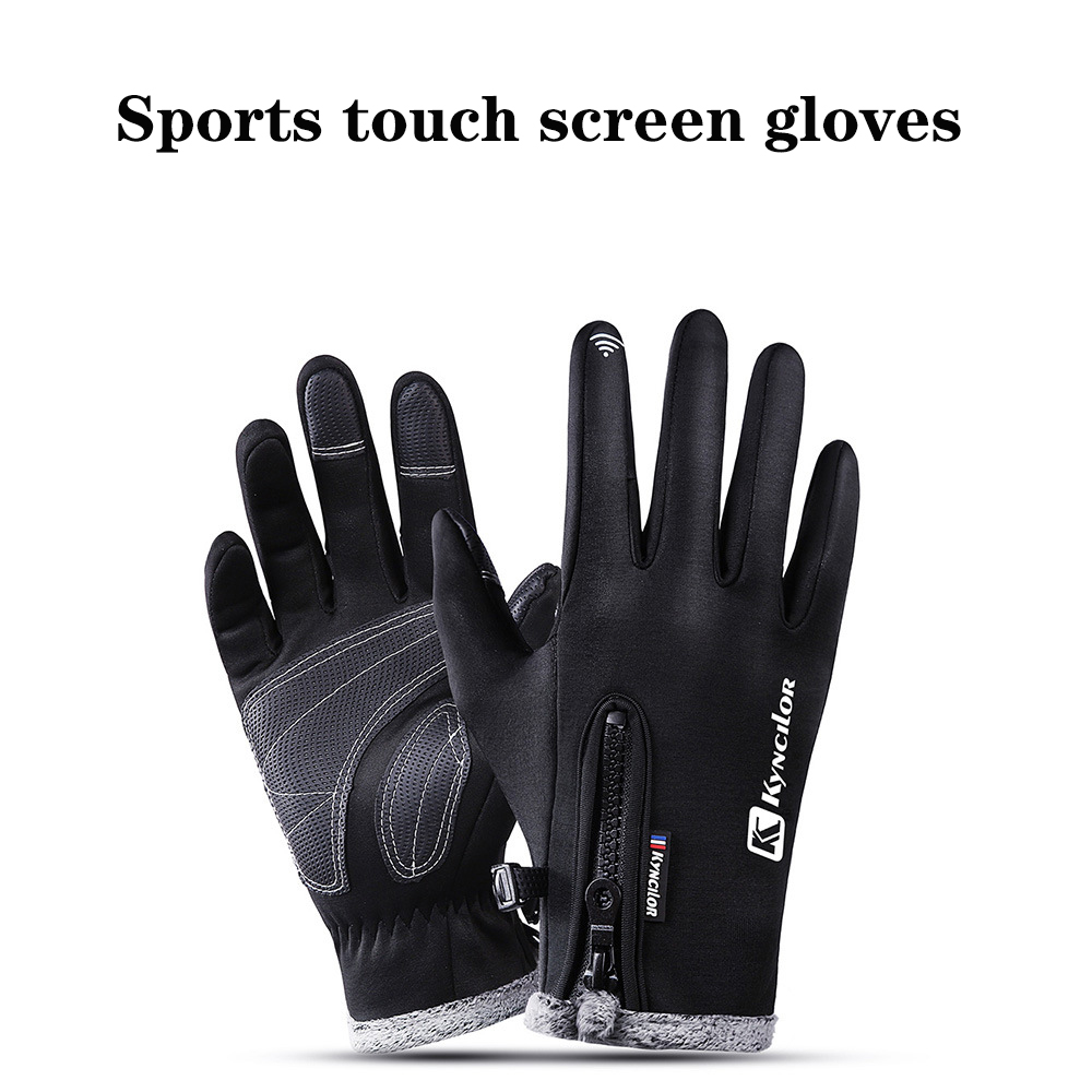 Cycling Gloves mtb Anti-slip Motorcycle Men riding Windproof Winter  Bike Anti-shock Full Finger Mountain Bicycle